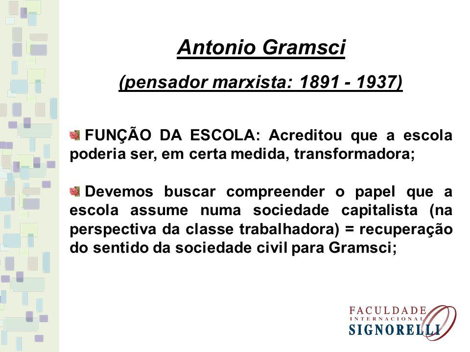 (pensador marxista: 1891 - 1937)