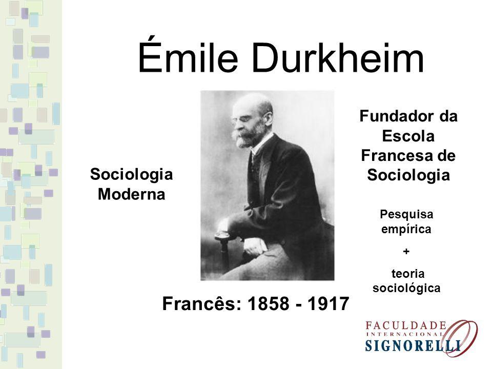 Fundador da Escola Francesa de Sociologia