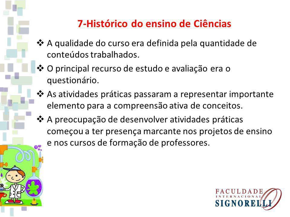 7-Histórico do ensino de Ciências
