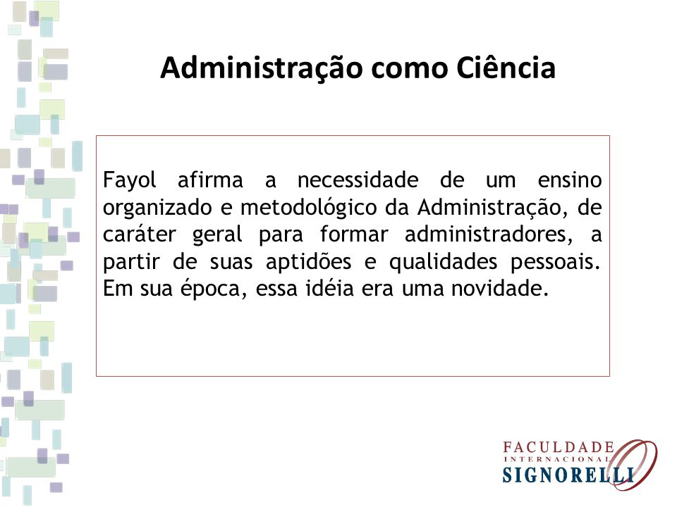 Administração como Ciência
