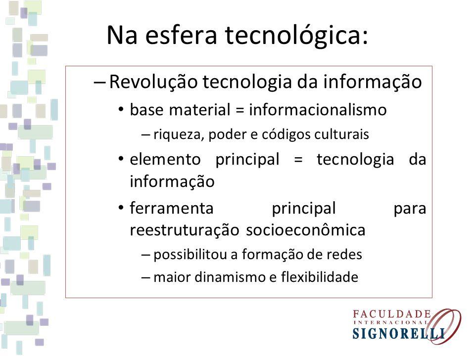 Na esfera tecnológica: