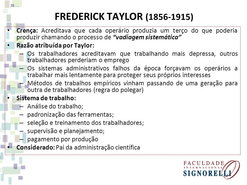 FREDERICK TAYLOR (1856-1915)
