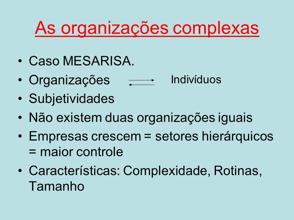 As organizações complexas
