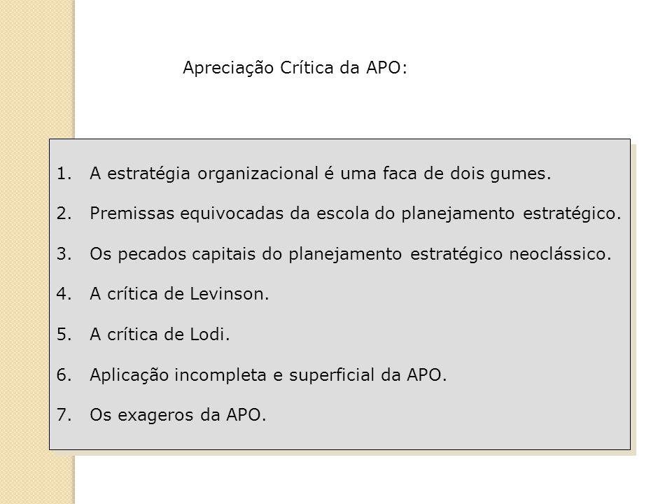 Apreciação Crítica da APO: