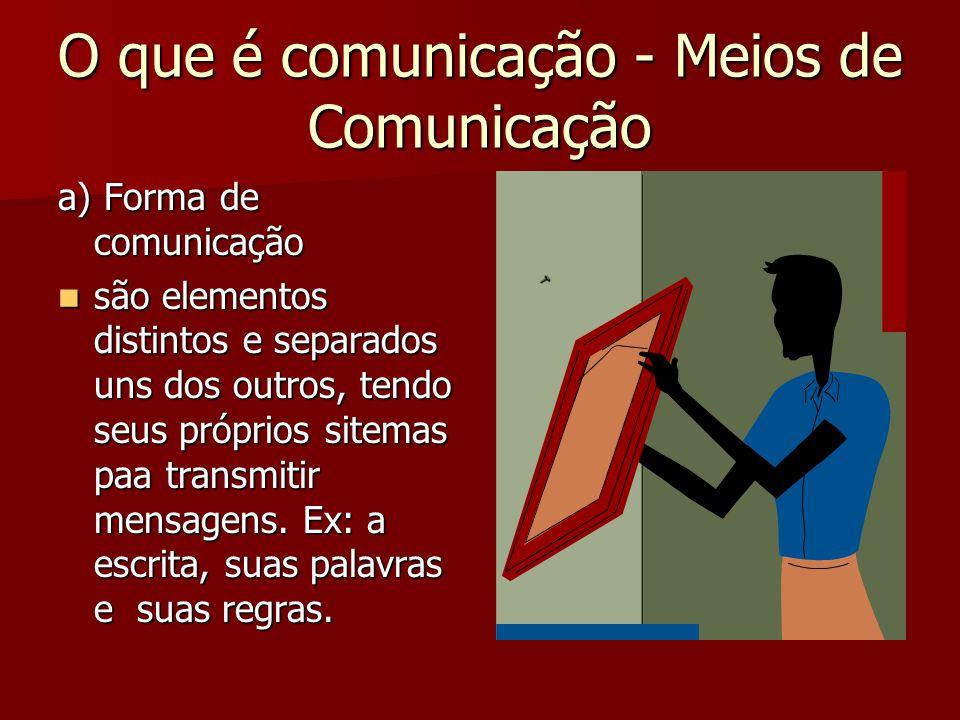 O que é comunicação - Meios de Comunicação