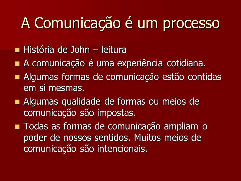 A Comunicação é um processo