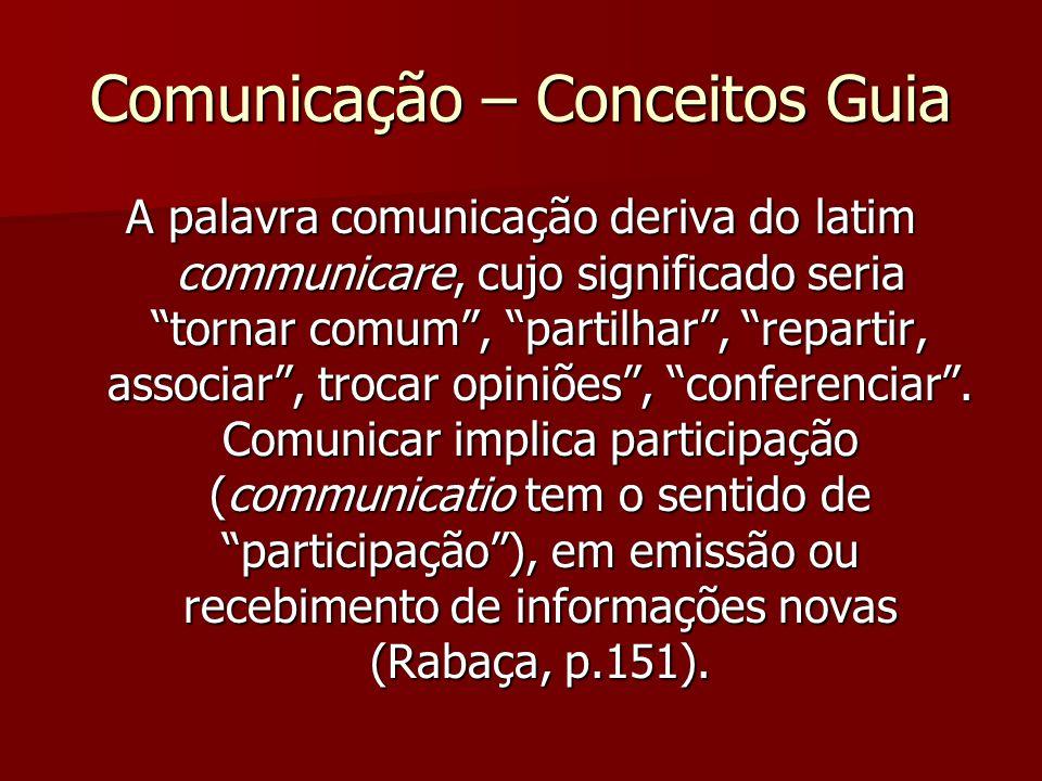 Comunicação – Conceitos Guia