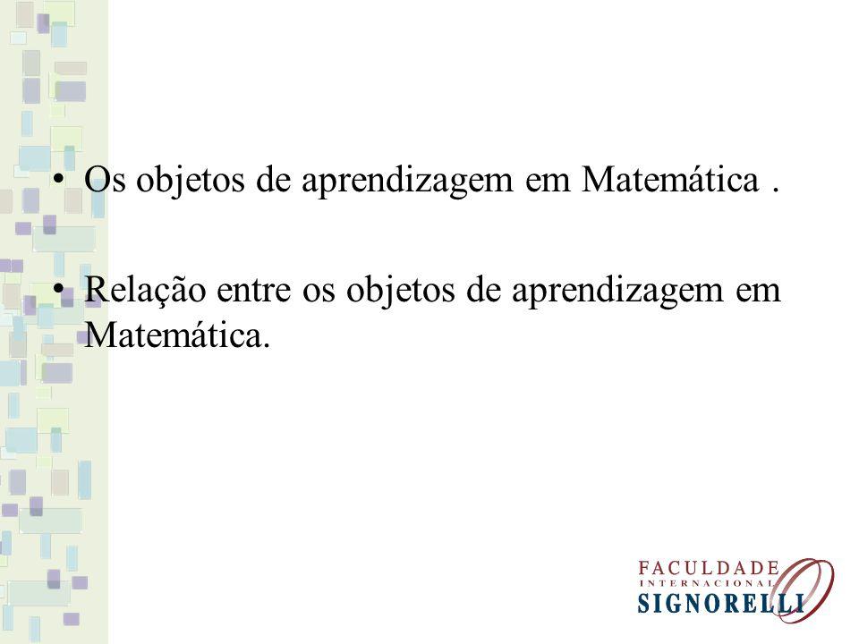 Os objetos de aprendizagem em Matemática .