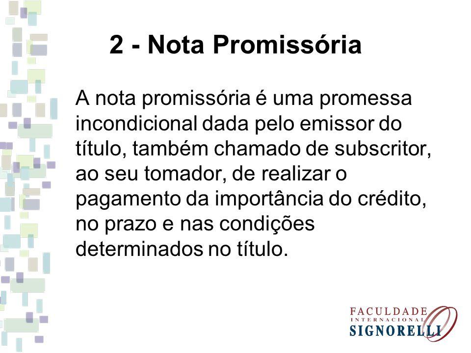 2 - Nota Promissória