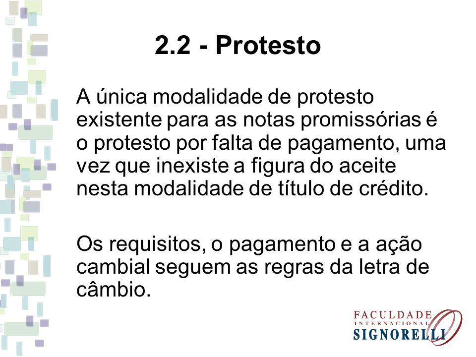 2.2 - Protesto