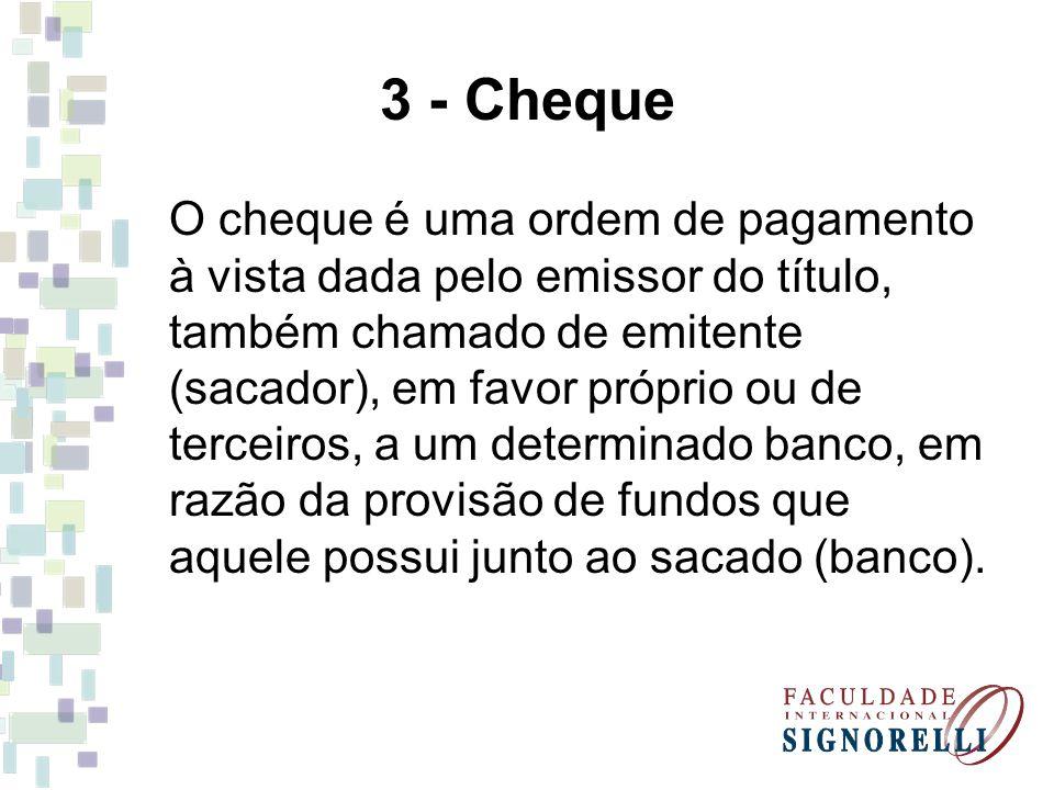 3 - Cheque