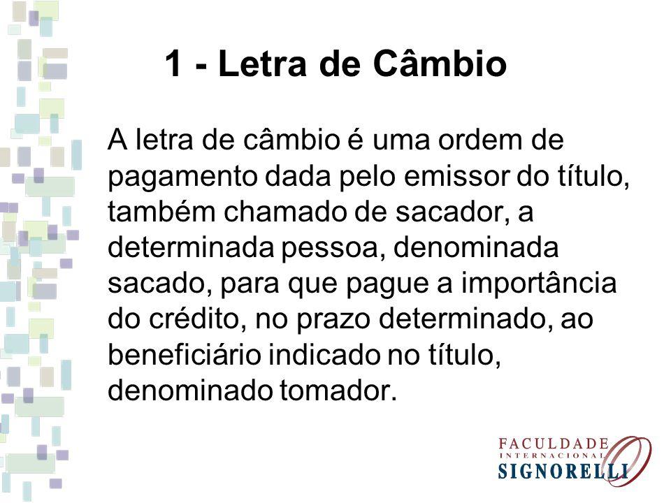 1 - Letra de Câmbio