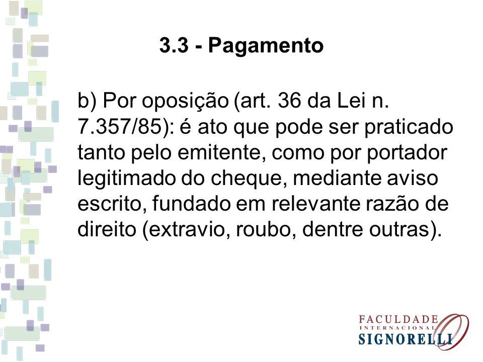 3.3 - Pagamento