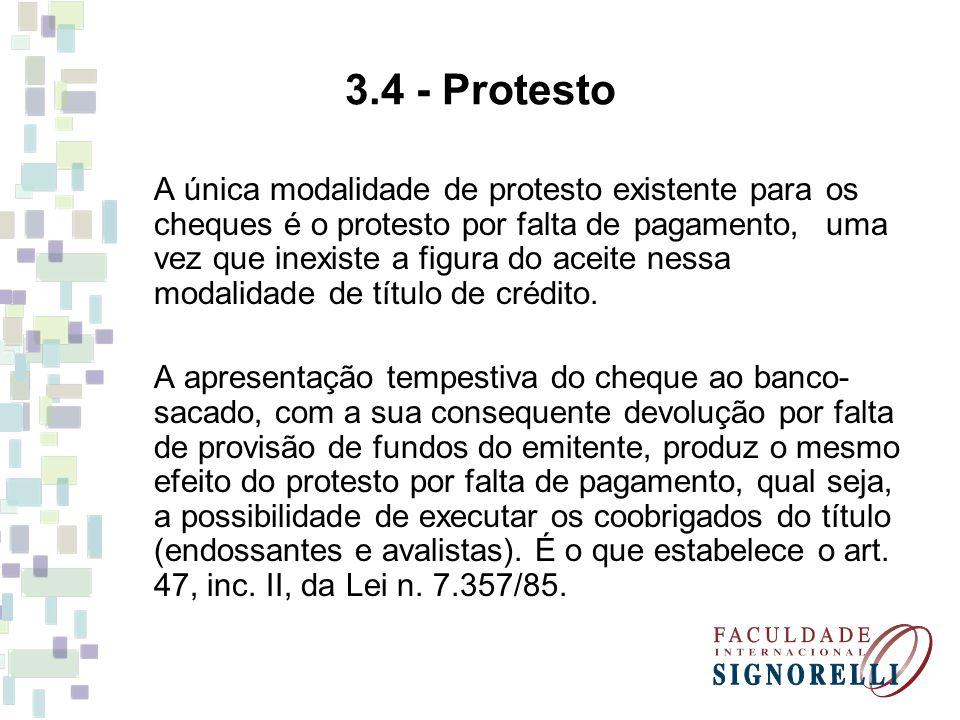 3.4 - Protesto