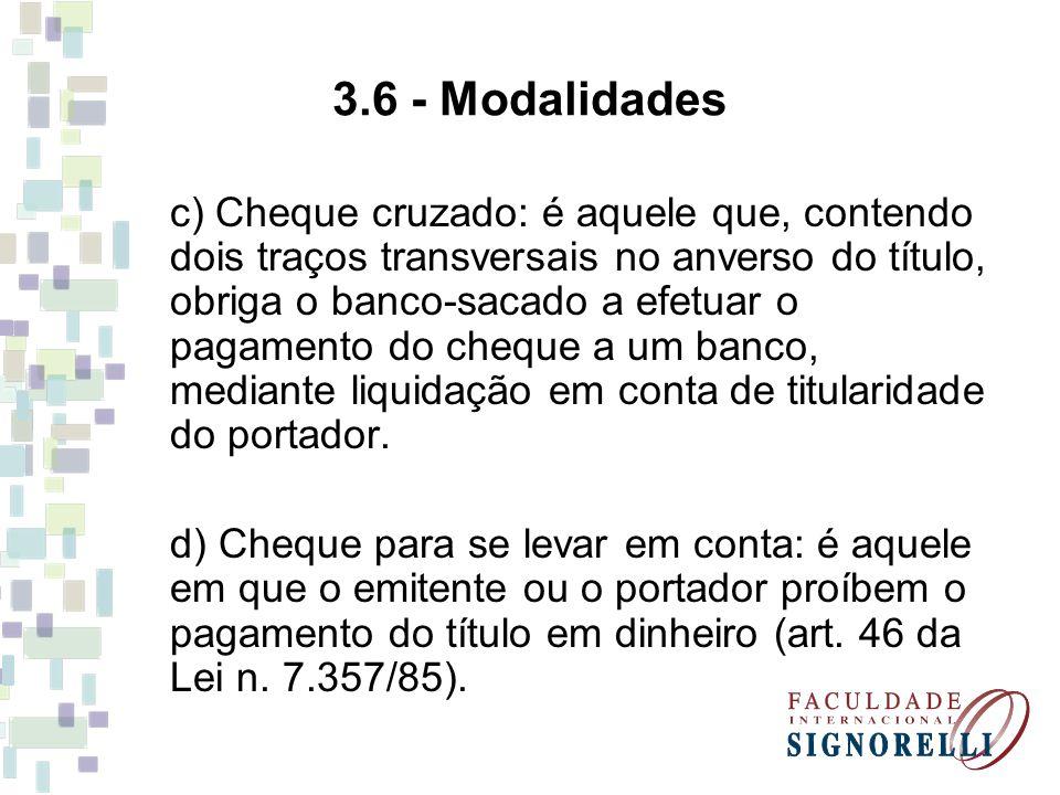 3.6 - Modalidades