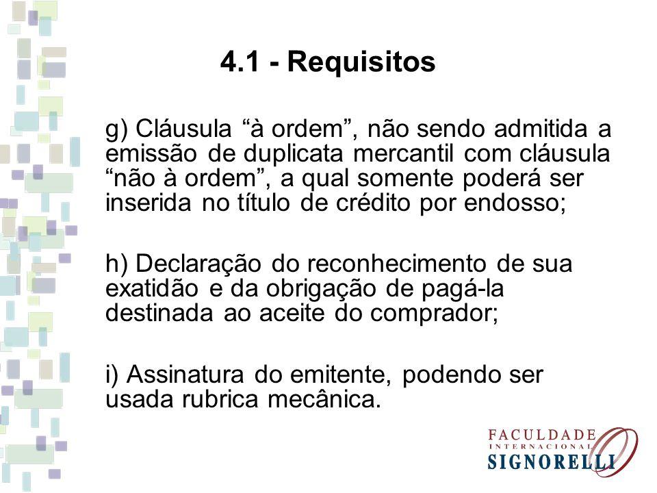 4.1 - Requisitos