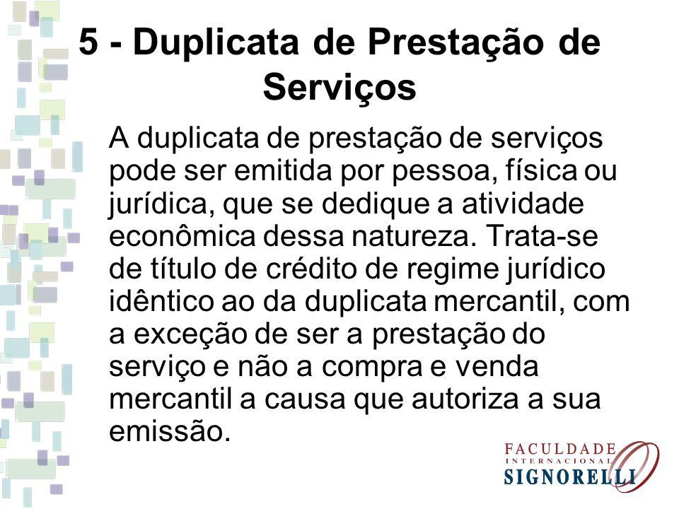 5 - Duplicata de Prestação de Serviços
