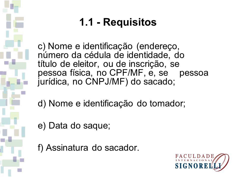 1.1 - Requisitos
