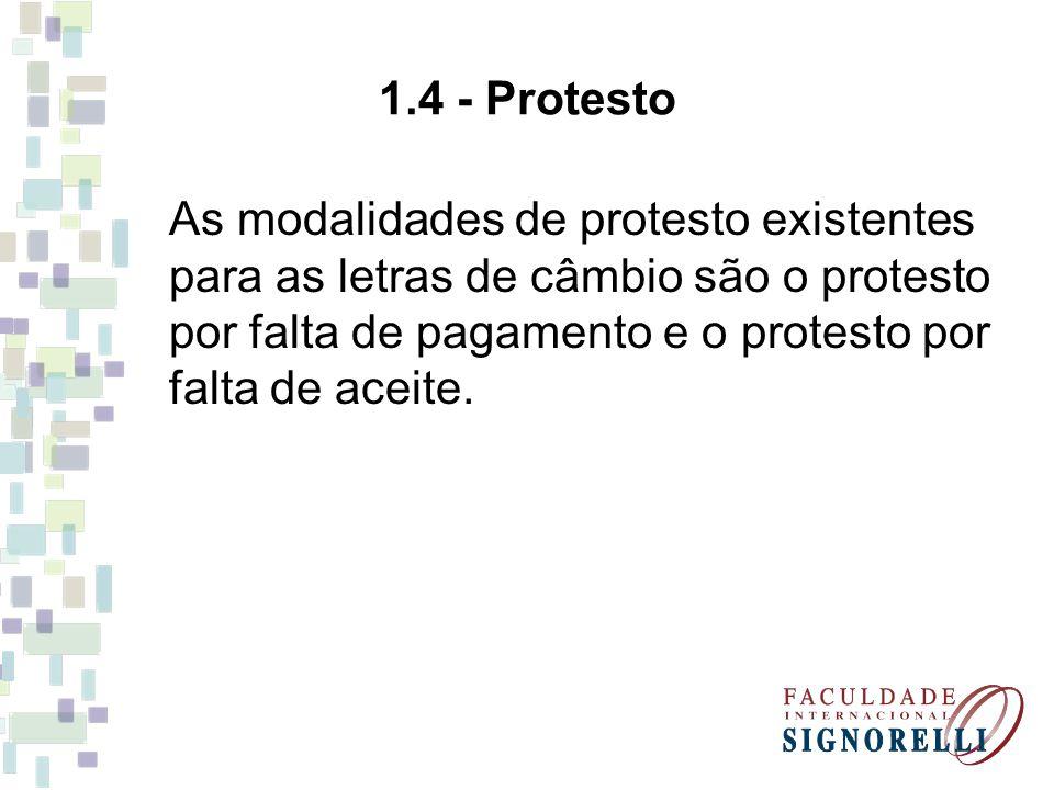 1.4 - Protesto