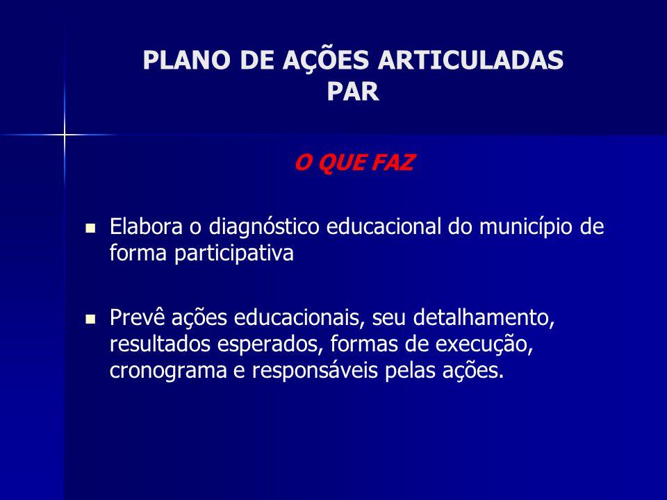 PLANO DE AÇÕES ARTICULADAS PAR