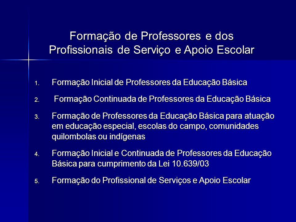 Formação de Professores e dos Profissionais de Serviço e Apoio Escolar