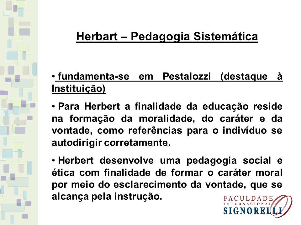 Herbart – Pedagogia Sistemática