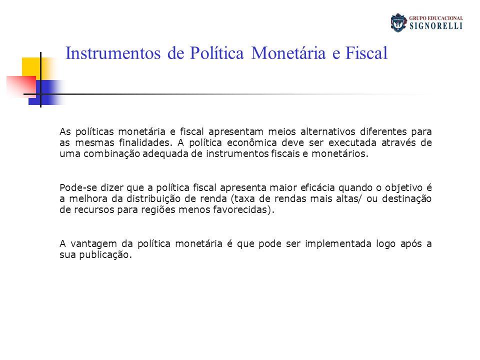 Instrumentos de Política Monetária e Fiscal