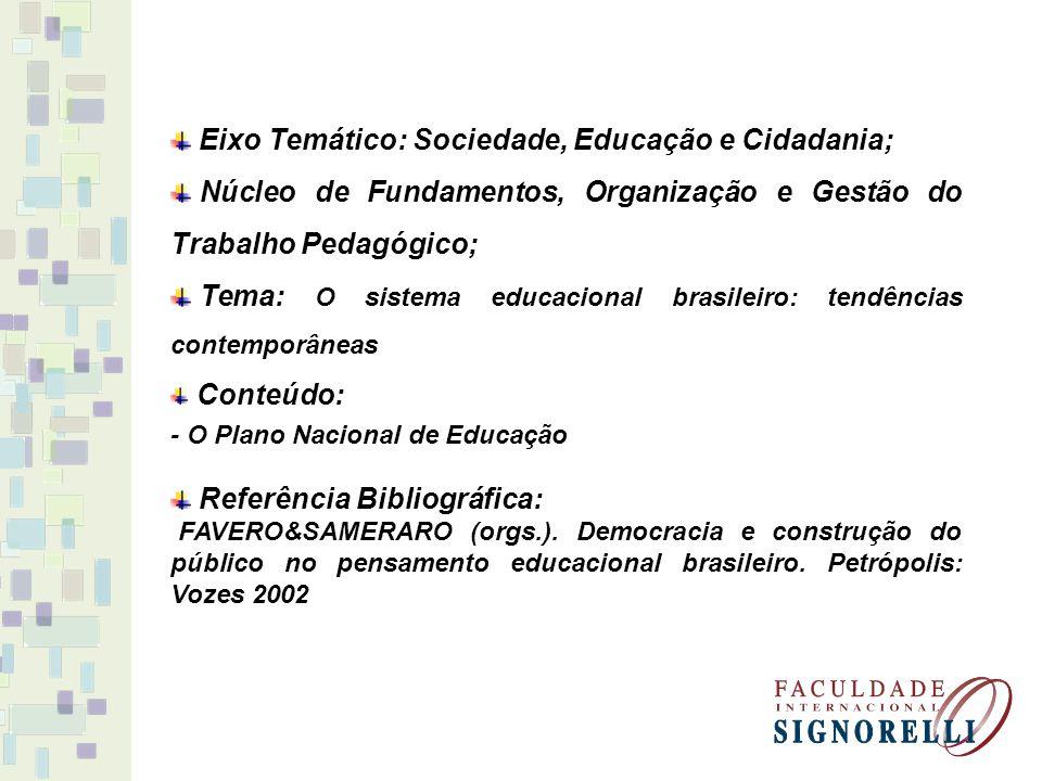 Eixo Temático: Sociedade, Educação e Cidadania;