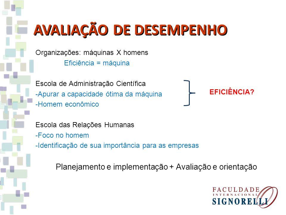 Planejamento e implementação + Avaliação e orientação