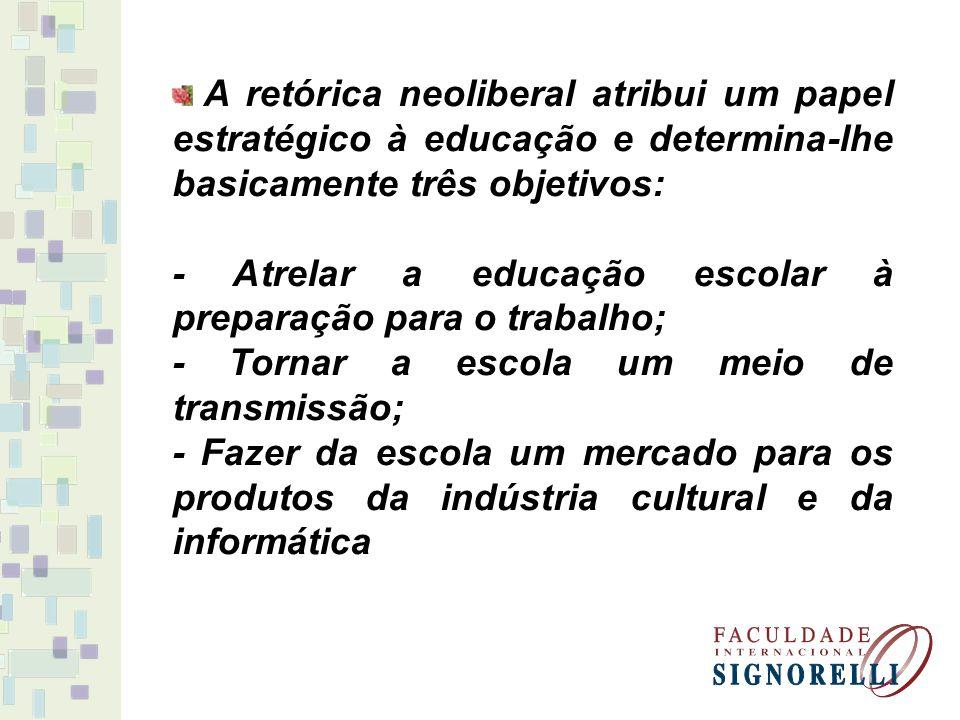 - Atrelar a educação escolar à preparação para o trabalho;