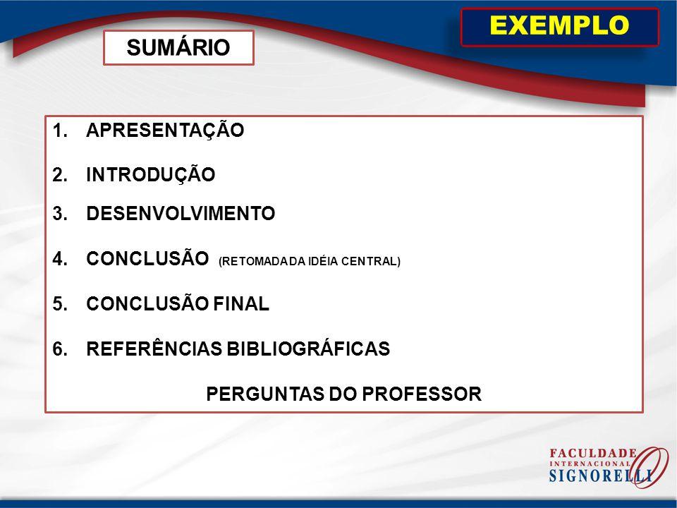 PERGUNTAS DO PROFESSOR