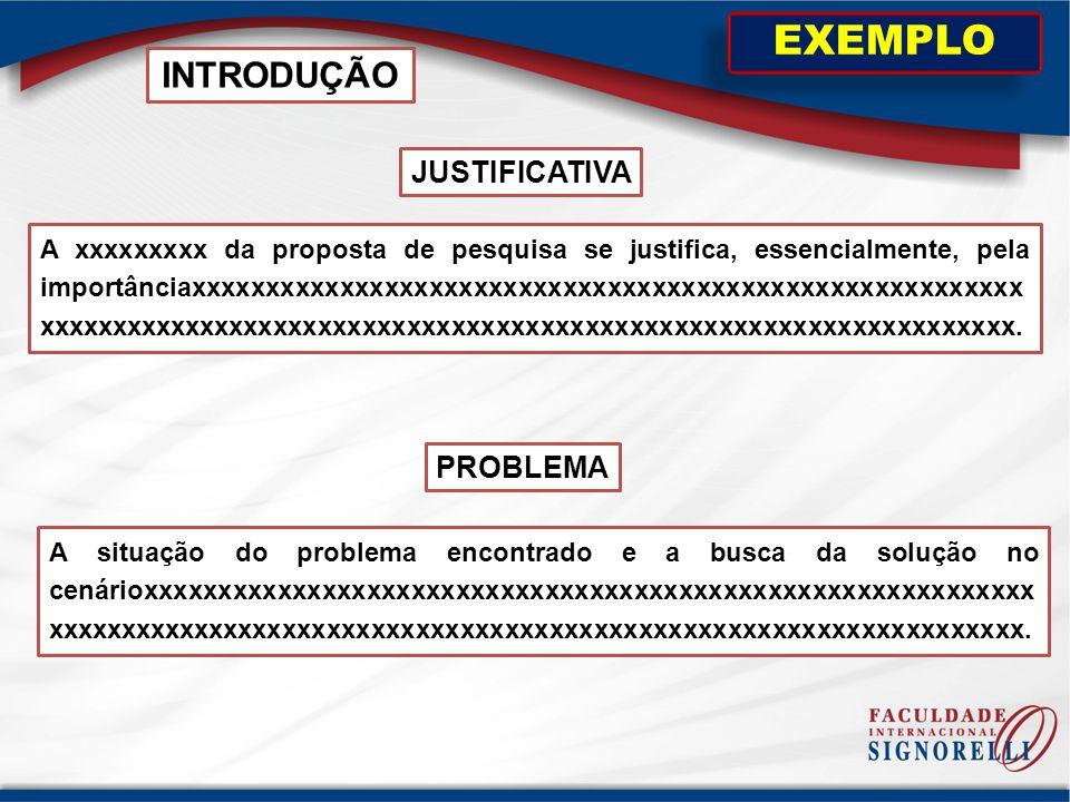EXEMPLO INTRODUÇÃO JUSTIFICATIVA PROBLEMA
