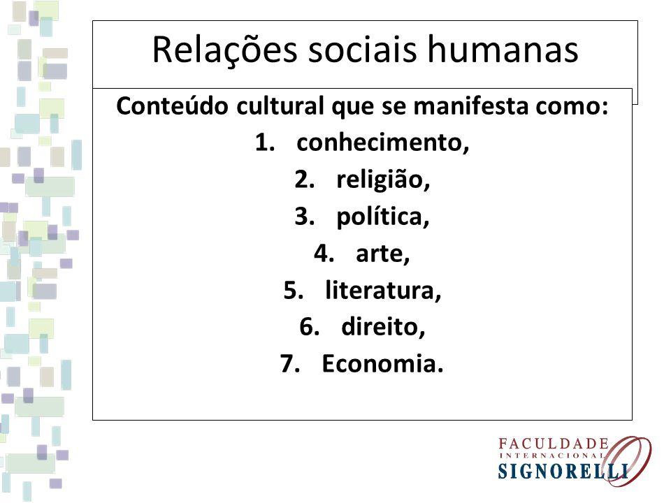 Relações sociais humanas