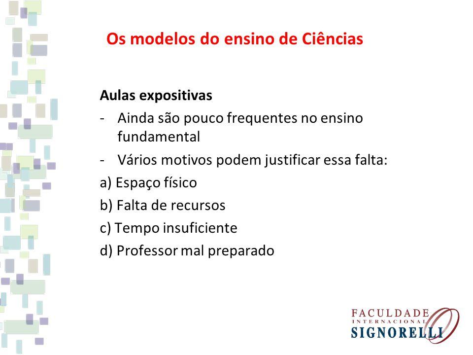 Os modelos do ensino de Ciências
