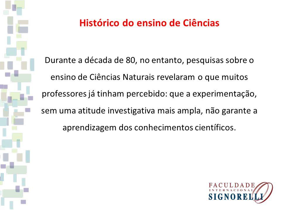 Histórico do ensino de Ciências