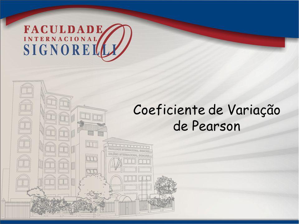 Coeficiente de Variação de Pearson