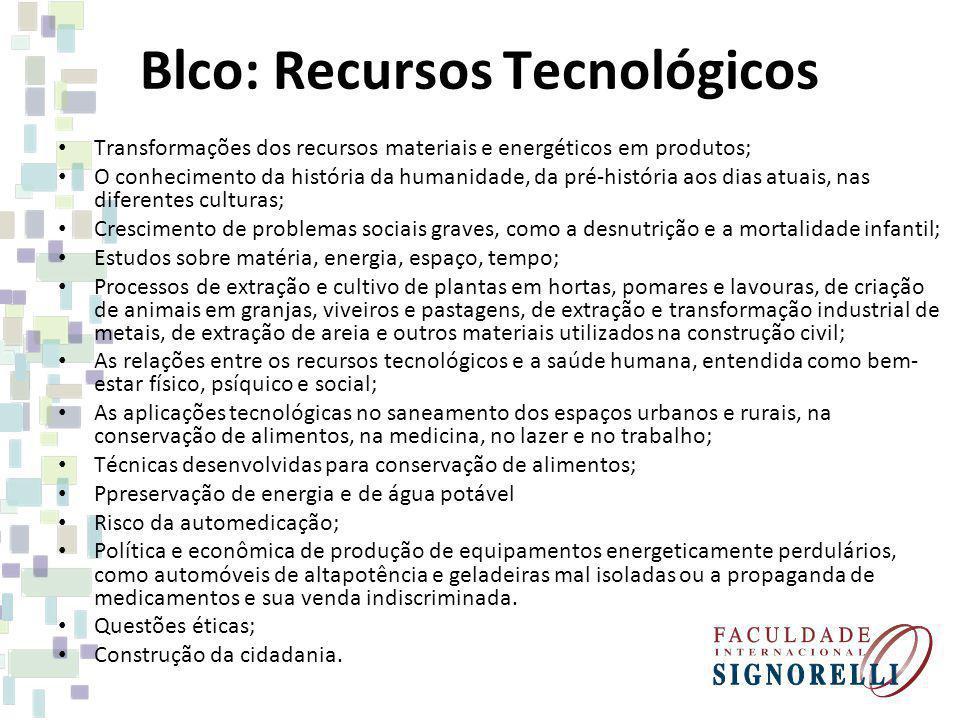 Blco: Recursos Tecnológicos