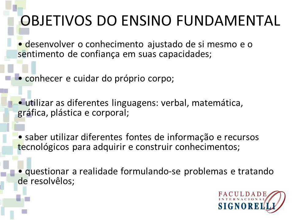 OBJETIVOS DO ENSINO FUNDAMENTAL