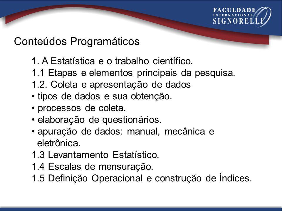 Conteúdos Programáticos