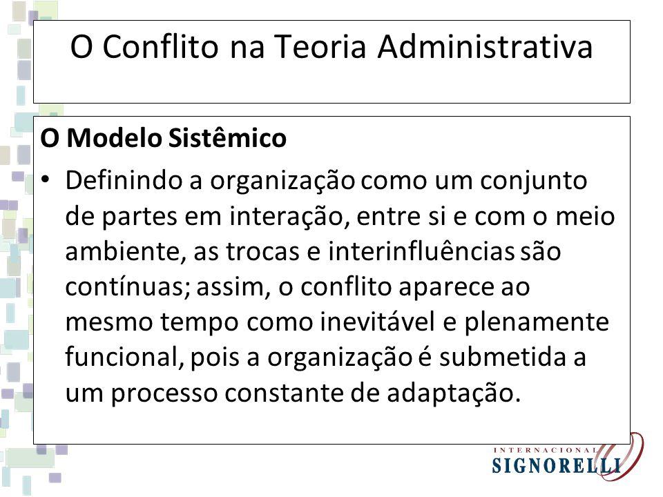 O Conflito na Teoria Administrativa