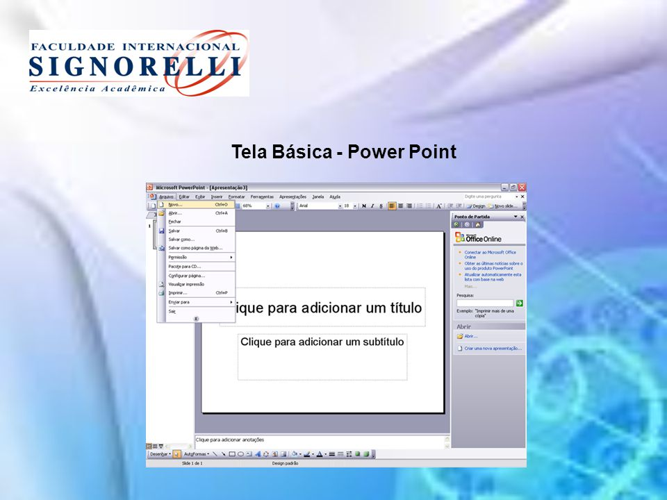 Tela Básica - Power Point