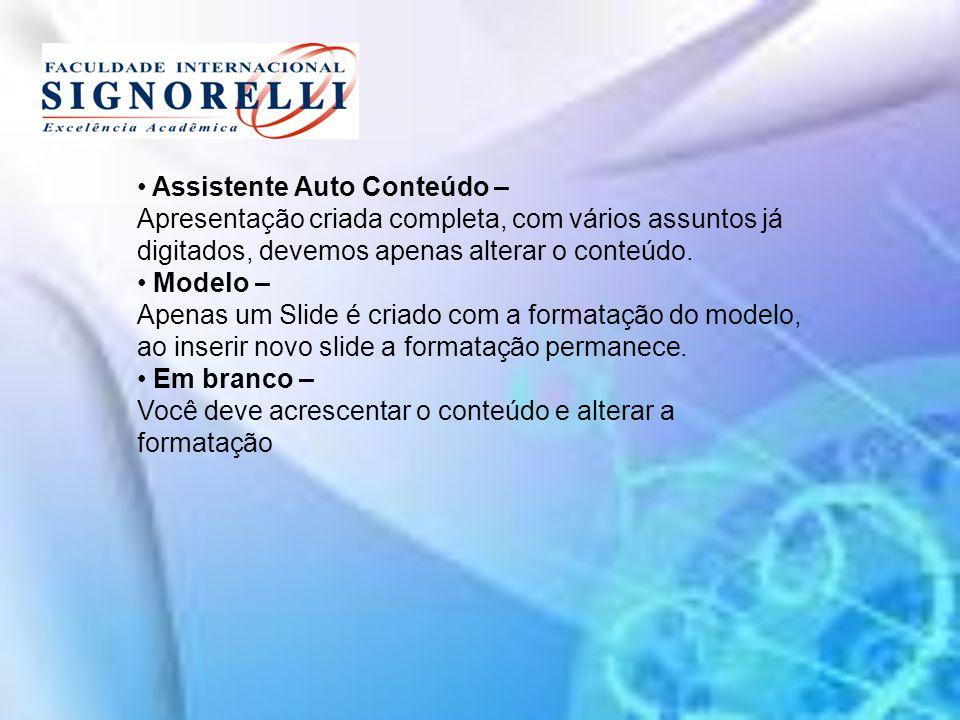 Assistente Auto Conteúdo –