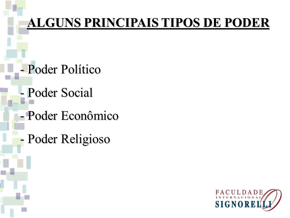 ALGUNS PRINCIPAIS TIPOS DE PODER