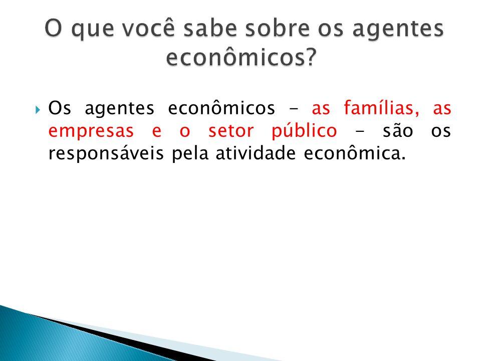 O que você sabe sobre os agentes econômicos