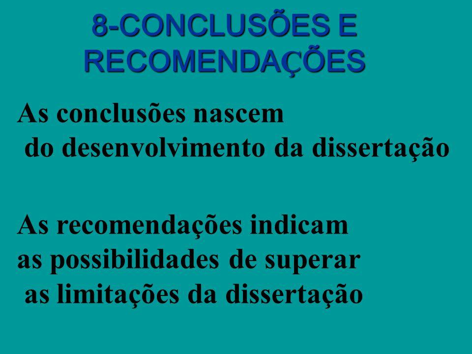8-CONCLUSÕES E RECOMENDAÇÕES