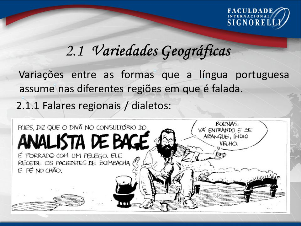 2.1 Variedades Geográficas