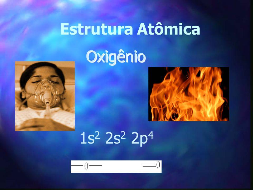 Estrutura Atômica Oxigênio 1s2 2s2 2p4