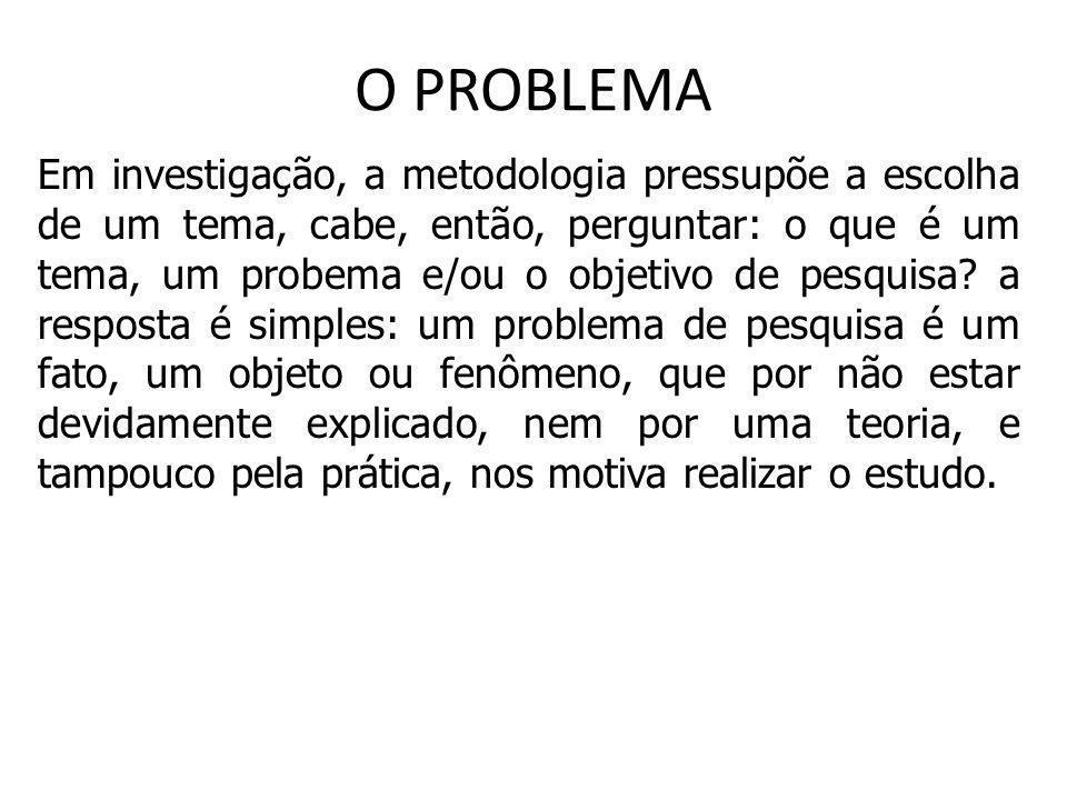 O PROBLEMA