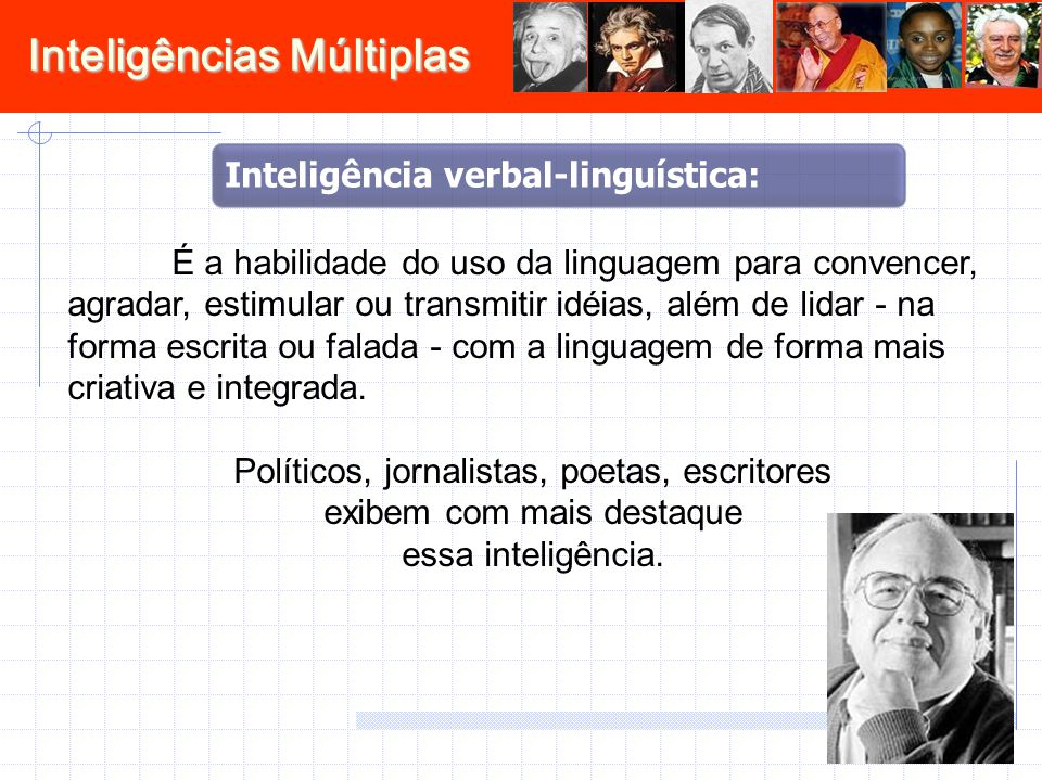 Inteligência verbal-linguística: