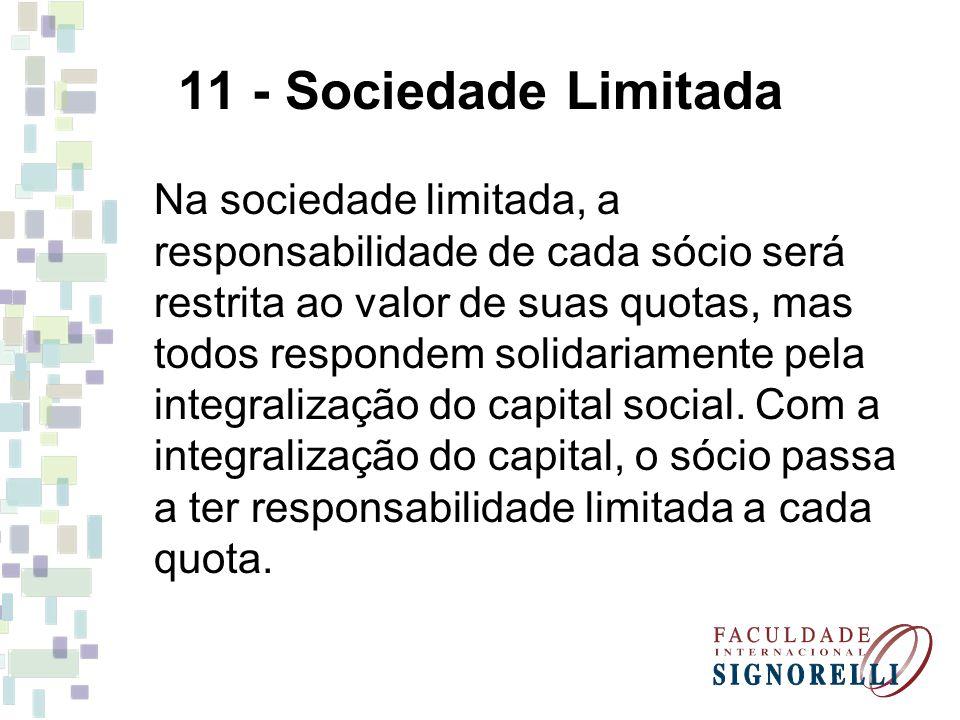 11 - Sociedade Limitada